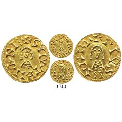 Spain (Visigoths), gold tremissis, Suinthila (621-631 AD), Barbi mint (probably modern-day Martos, s