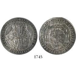 Salzburg, Austrian States, 1/2 thaler, 1708, encapsulated PCGS AU-55.