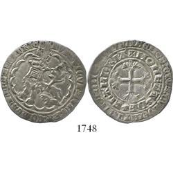 Belgium (Flanders), lion de 2 gros, Louis II (1346-84).