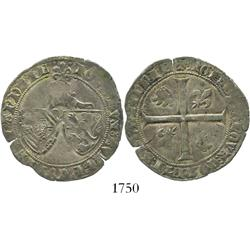 Belgium (Flanders), lion de 2 gros, John the Fearless (1404-19).