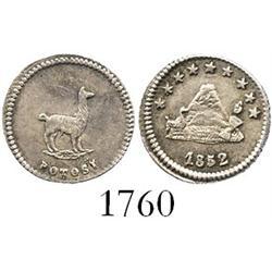 Potosi, Bolivia, 1/4 sol, 1852.
