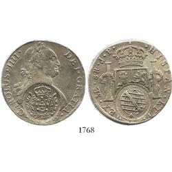 Minas Gerais, Brazil, 960 reis counterstamp (1808) on a Lima, Peru, bust 8 reales, Charles IV, 1806J