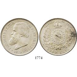 Brazil, 2000 reis, 1889.