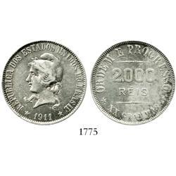 Brazil, 2000 reis, 1911.