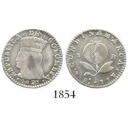 Bogota, Colombia (Cundinamarca), 1 real, 1821JF.