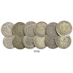 Lot of 6 Bogota, Colombia, 1R: 1828RR, 1833RS, 1835RS, 1836RS (3).