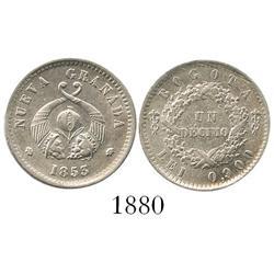 Bogota, Colombia, 1 décimo, 1853, encapsulated NGC AU-58.