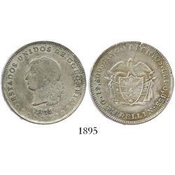 Medellin, Colombia, 5 decimos, 1873.