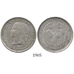 Bogota, Colombia, 50 centavos, 1880.