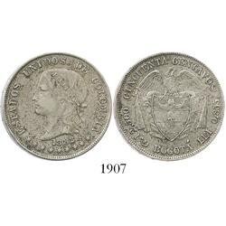 Bogota, Colombia, 50 centavos, 1882.
