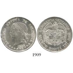 Bogota, Colombia, 50 centavos, 1884.