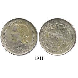 Bogota, Colombia, 50 centavos, 1886.
