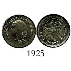 Bogota, Colombia, 1/2 décimo, 1870.