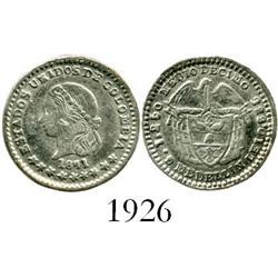 Medellin, Colombia, 1/2 decimo, 1871.