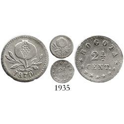 Bogota, Colombia, 2-1/2 centavos, 1879.