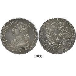 France (Paris mint), 1/2 ecu, Louis XVI, 1784-A.