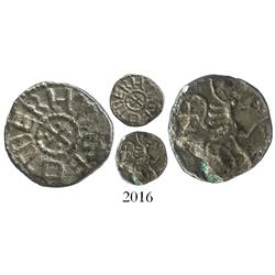 Anglo-Saxon England (Northumbria), silver sceat, Eadberht (737-758 AD).