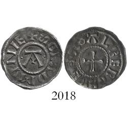 Viking coinage of Danish East Anglia, England, penny, 885-915 AD, St. Edmund memorial.