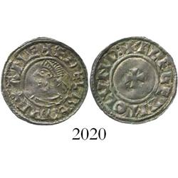 Anglo-Saxon England, penny, Aethelred II (978-1016 AD), last small-cross type.