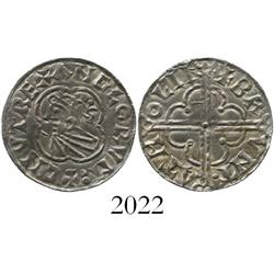 Anglo-Saxon England, penny, Cnut (1016-1035 AD), quatrefoil type, Lincoln mint.