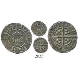 England, half penny, Richard II (1377-99), scarce.