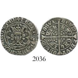England, half groat, Henry VI (1422-61), annulet issue (1422-27), Calais mint.