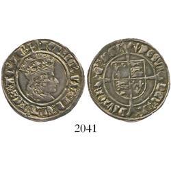 England, groat, Henry VII, profile bust, mintmark pheon (1505-9).