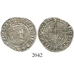 London, England, groat, Henry VIII (second coinage), mintmark arrow (1526-32).