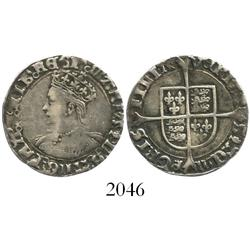 London, England, groat, Mary, mintmark pomegranate before queen's name (1553-4).