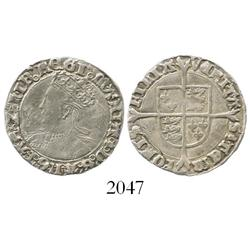 London, England, groat, Mary, mintmark pomegranate after queen's name (1553-4).