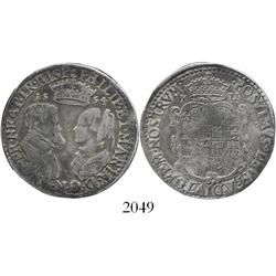 London, England, shilling, Philip and Mary, 1554.