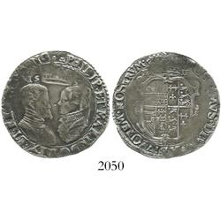 London, England, shilling, Philip and Mary, 1555.