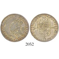 London, England, sixpence, Elizabeth I, milled coinage, 1562.