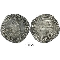 London, England, shilling, James I, second coinage, mintmark lis (1604-5).