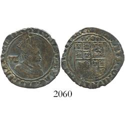 London, England, sixpence, James I (fourth bust), mintmark coronet, dated 1608.