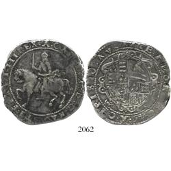 Exeter, England, crown, Charles I, 1645, castle mintmark.