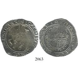 London, England, half crown, Charles I, mintmark anchor (1638-9), Tower mint.