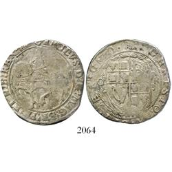 London, England, half crown, Charles I, mintmark portcullis (1633-4), Tower mint.