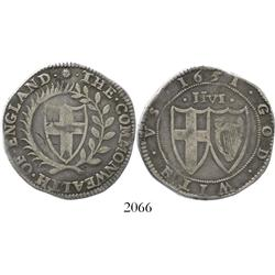 England (Commonwealth), half crown, mintmark sun, 1651.