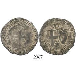 England (Commonwealth), shilling, mintmark sun, 1649.