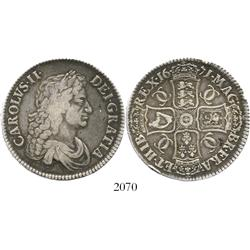 London, England, crown, Charles II, 1671 (TERTIO).