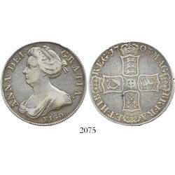 London, England, crown, Anne, 1703, with VIGO below bust.