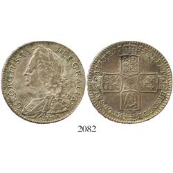 London, England, half crown, George II, 1745, with LIMA below bust.