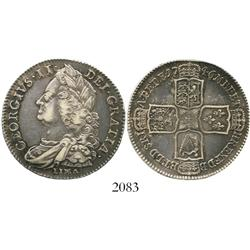 London, England, half crown, George II, 1746/5, with LIMA below bust.