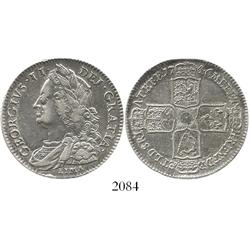 London, England, half crown, George II, 1746, with LIMA below bust.