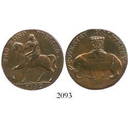 "England (Coventry, Warwickshire), copper halfpenny ""Conder"" token, 1792."