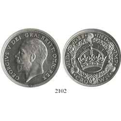 London, England, crown, George V, 1931, encapsulated NGC AU-55.