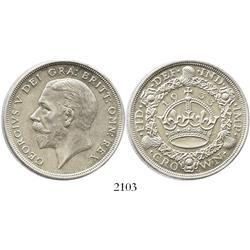 London, England, crown, George V, 1933.