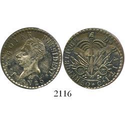 Haiti, 50 centimes, AN 25 (1828).
