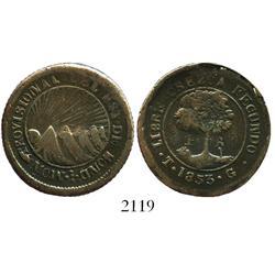 Honduras, 4 reales, 1853TG.
